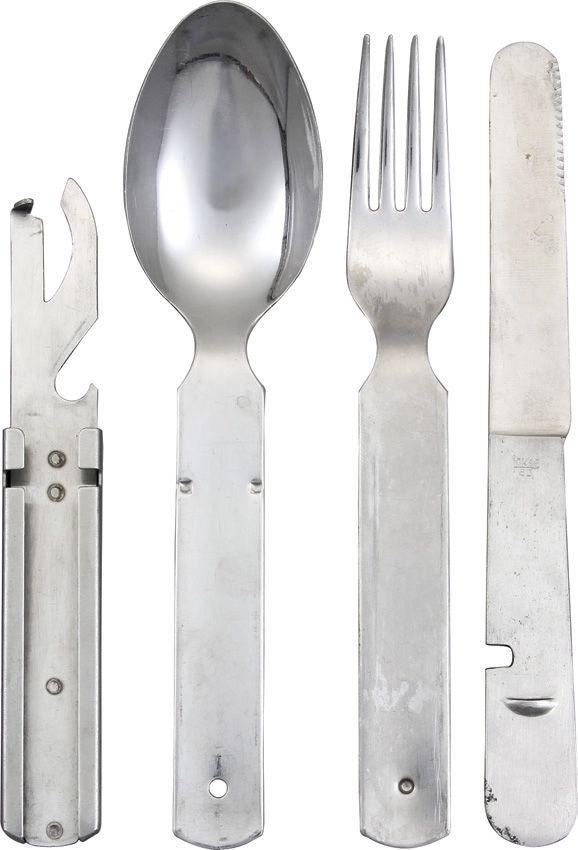 German Military Surplus alimentaires Inoxydable Ustensile Set