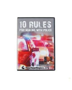 "Front cover of the ""10 Rules for Dealing with Police"" DVD"