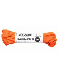 550 Paracord 100ft - Safety Orange - Rothco
