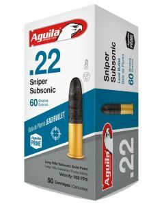 Aguila Sniper Subsonic 22LR  Ammo