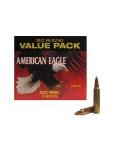 Federal AEBP223B.223 Ammunition – 400 Rounds of 55 gr FMJ Ammunition