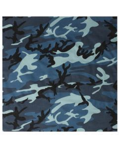 Colored Camo Bandana - Sky Blue Camo