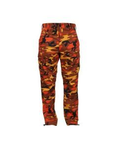 Savage Orange Camo BDU Pants