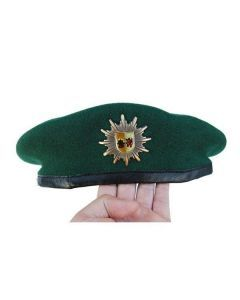 German Police Beret Hat with Original Insignia