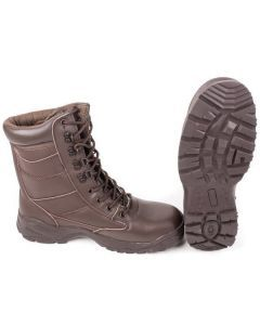 British Army Brown Leather Patrol Boots
