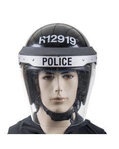 British Police Riot Helmet - Black
