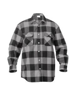 Buffalo Plaid Flannel Shirt - Extra Heavyweight - Grey Plaid