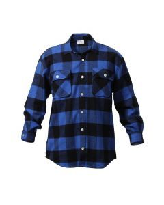 Buffalo Plaid Flannel Shirt - Extra Heavyweight - Blue Plaid