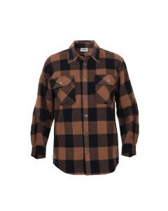 Buffalo Plaid Flannel Shirt - Extra Heavyweight - Brown Plaid