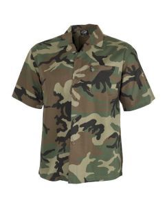 Camouflage Button Down Shirt - Woodland Camo