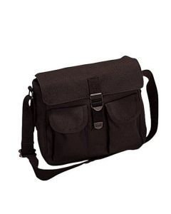 Canvas Ammo Shoulder Bag - Black