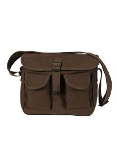 Canvas Ammo Shoulder Bag - Brown