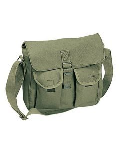 Canvas Ammo Shoulder Bag - Olive Drab