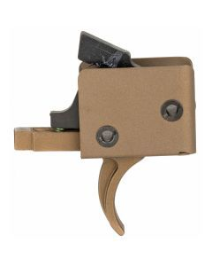 CMC AR-15 Drop-In Single Stage Trigger - Curved Bow 3.5-4lb Pull - Bronze Finish