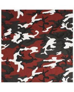 Colored Camo Bandana - Red Camo