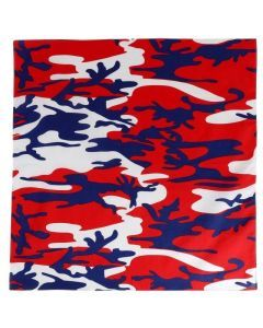 Colored Camo Bandana - Red White and Blue Camo