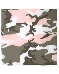 Colored Camo Bandana - Subdued Pink Camo
