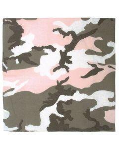 Colored Camo Bandana - Subdued Pink Camo