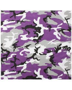 Colored Camo Bandana - Ultra Violet Camo