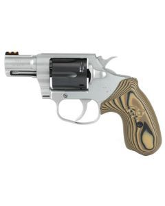 Colt Cobra Revolver 38 Special 6Rd Stainless and Black VZ Hyena Brown Grips