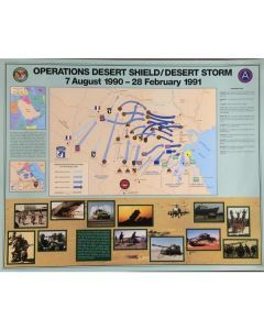 US Army Desert Storm Battle Map