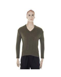 East German OD V-Neck Sweater