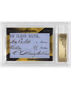 Eliphalet Remington III Signature - Razor Card Cut 2009