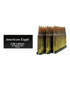 Federal XM193J 5.56 Ammunition – 30 Rounds of 55gr FMJ M193 Ammunition