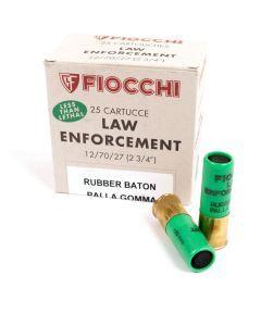 Fiocchi 12 Gauge Rubber Baton Rounds