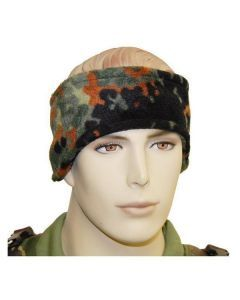 Fleece Camouflage Headband (Flecktarn) - Perfect for Cold Outdoor Activites