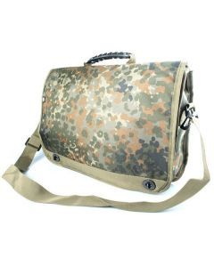 Flecktarn Camouflage Laptop Bag - Side View