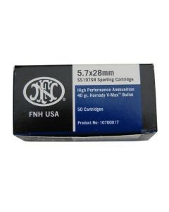FNH USA 5.7x28mm Ammunition – 50 Rounds of SS197SR Ammunition