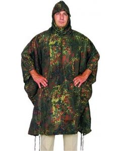 Fox Outdoors Rip Stop Poncho - Flecktarn Camouflage