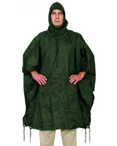Fox Outdoors Rip Stop Poncho - Olive Drab