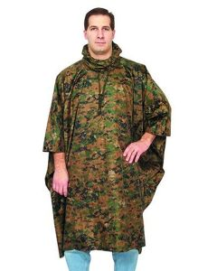 Fox Outdoors Rip Stop Poncho - Digital Woodland Camouflage
