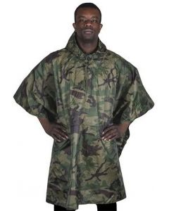 Fox Outdoors Rip Stop Poncho - Woodland Camouflage