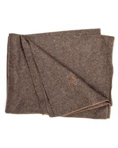 French Army Hospital Brown Wool Blanket