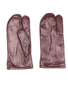 French Army Leather 3-Finger Mittens