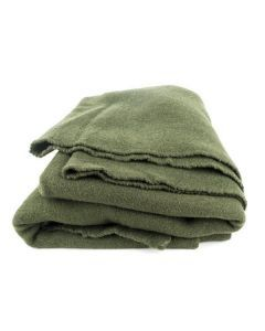 French Army OD Wool Blanket