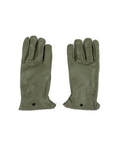 French Army OD Leather Gloves