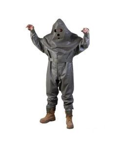 French Military Hazmat Suit with Hood and Apron