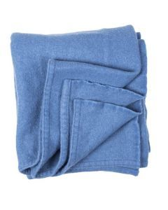 French Navy Blue Wool Blanket