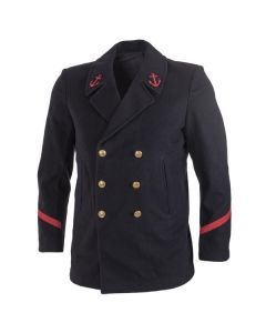 French Navy Wool Peacoat