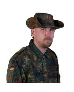 German Flecktarn Camo Bush Hat - Brim Up