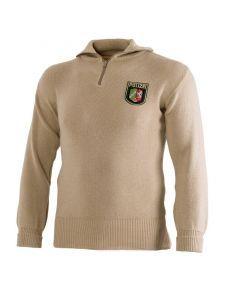 German Police Zippered Turtleneck Sweater