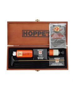 Interior of the Hoppe's gun cleaning kit Note: NOT ALL ACCESSORIES ARE PICTURED