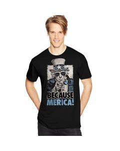 Hanes Men's Because Merica Graphic Tee