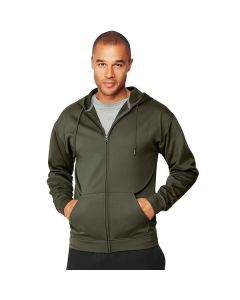 Hanes Sport™ Men's Performance Fleece Zip Up Hoodie - Camo Green