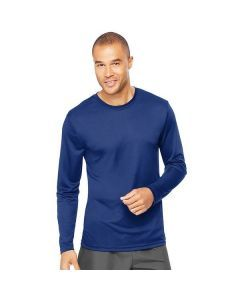 Hanes Cool Dri Performance Long Sleeve Tee - Deep Royal