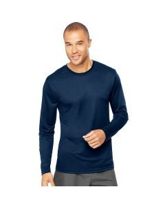 Hanes Cool Dri Performance Long Sleeve Tee - Navy